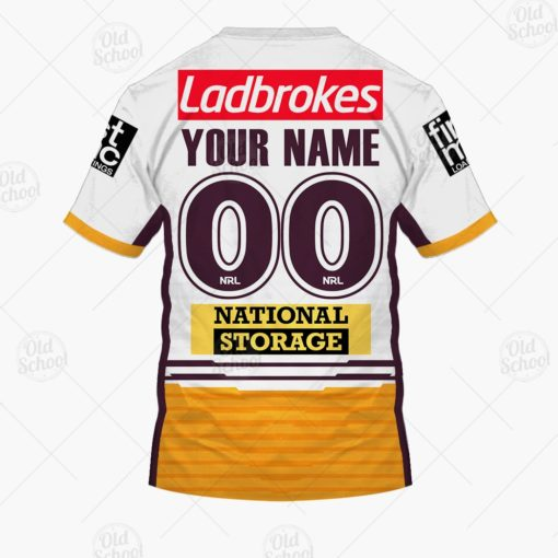 Personalise NRL Brisbane Broncos 2021 Away Jersey - YourGears